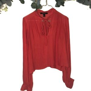 Forever 21 contemporary red blouse